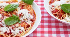 Spaghetti næsten som i Italien