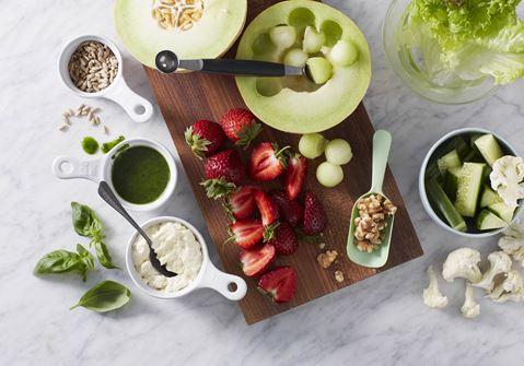 Ostecreme og urteolie til frugt og grønt