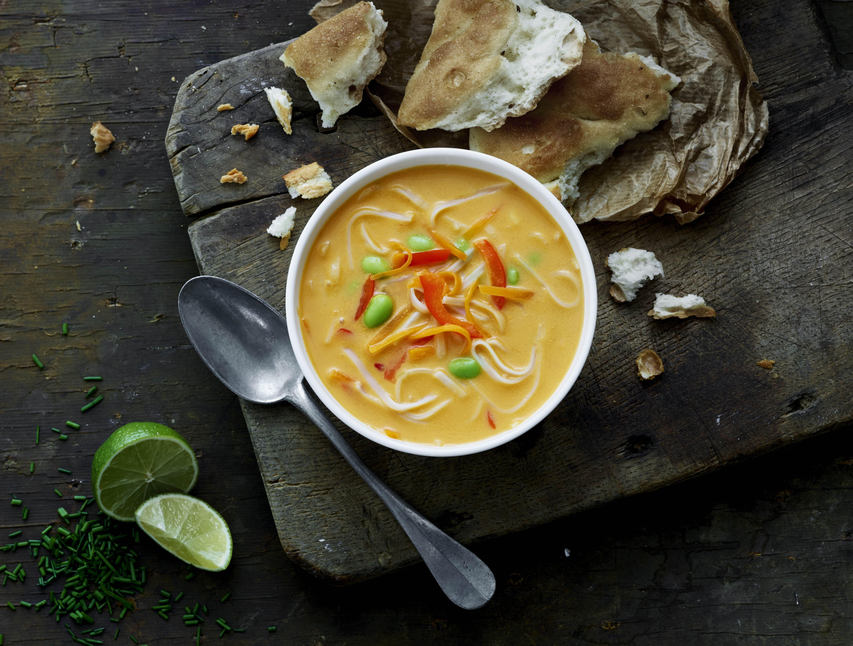 Thaisuppe med nudler