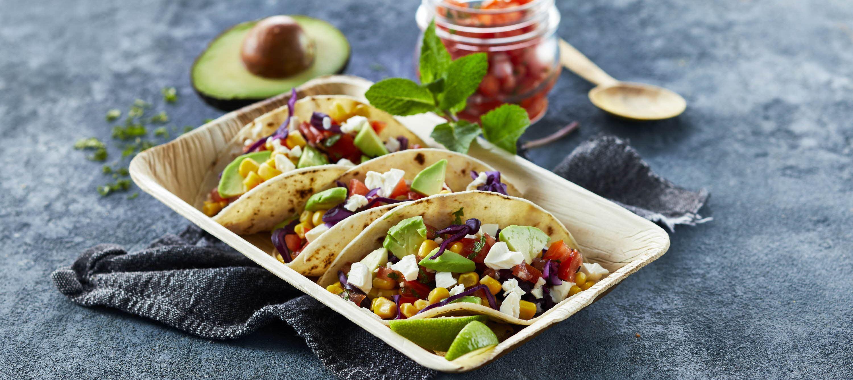 Vegetar tacos med ost og tomatsalsa