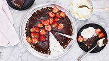 Svensk chokoladekage med kaffe og ganache
