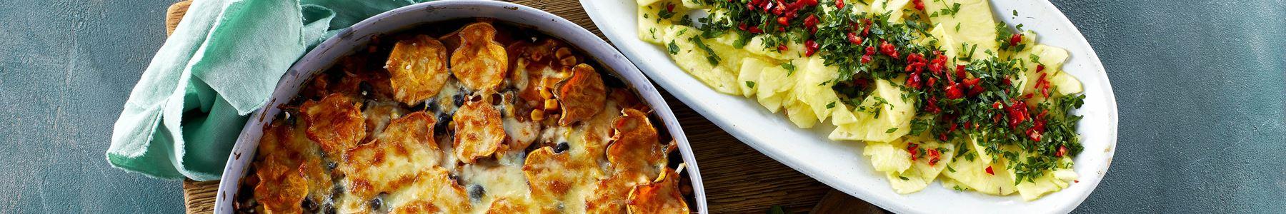 Sorte bønner + Mozzarella