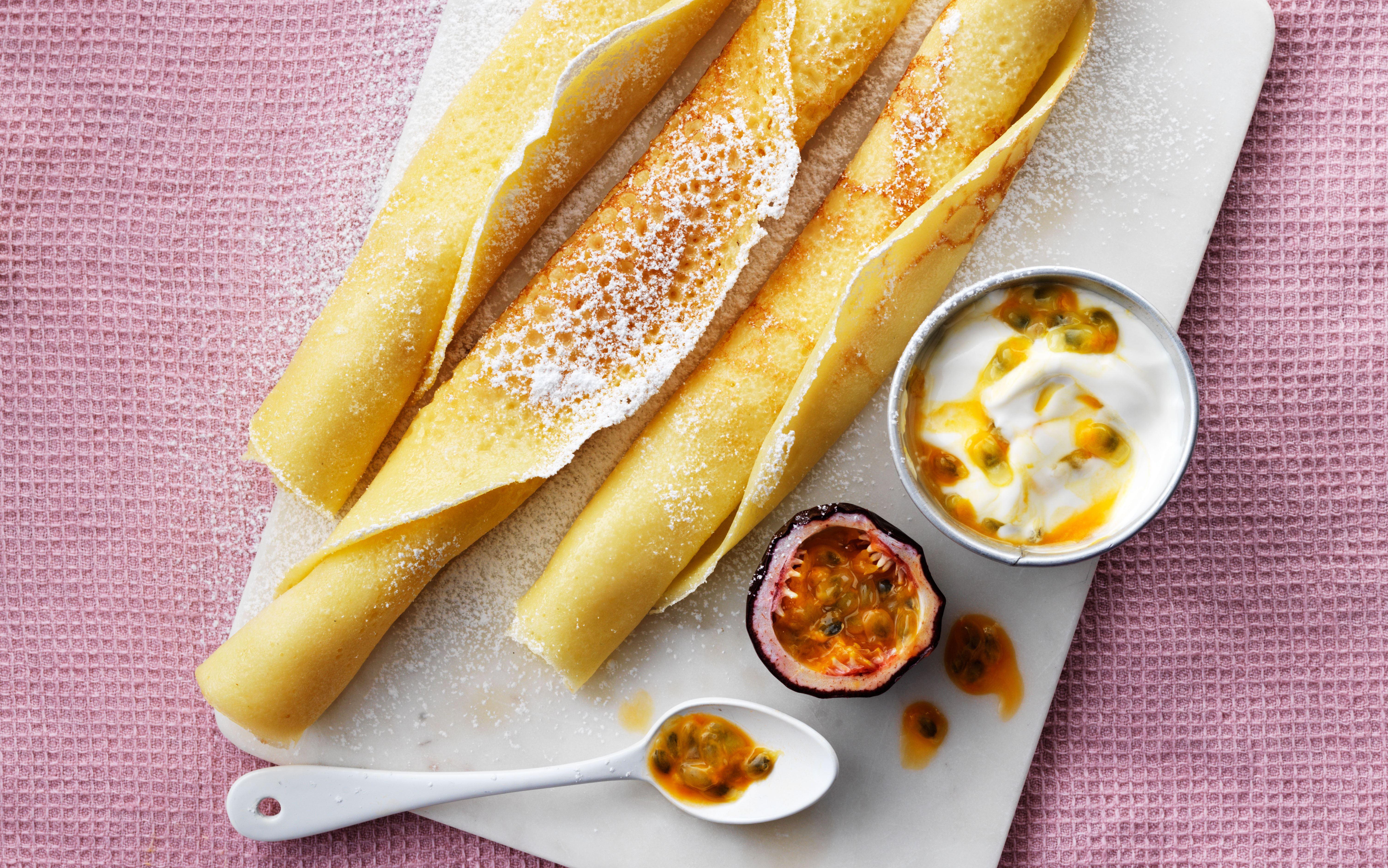 Pandekager med majs-, ris- og kartoffelmel