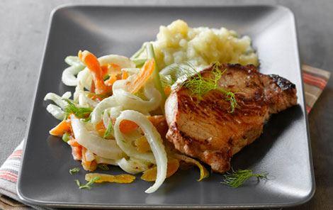 Koteletter med fennikelsauce og kartoffelmos