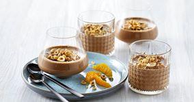 Chokolademousse med hytteost
