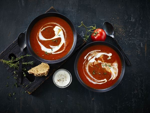 Tomatsuppe med fraiche