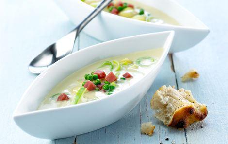 Aspargessuppe med aspargeskartofler