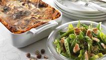 Nem grøntsagslasagne med hasselnødder