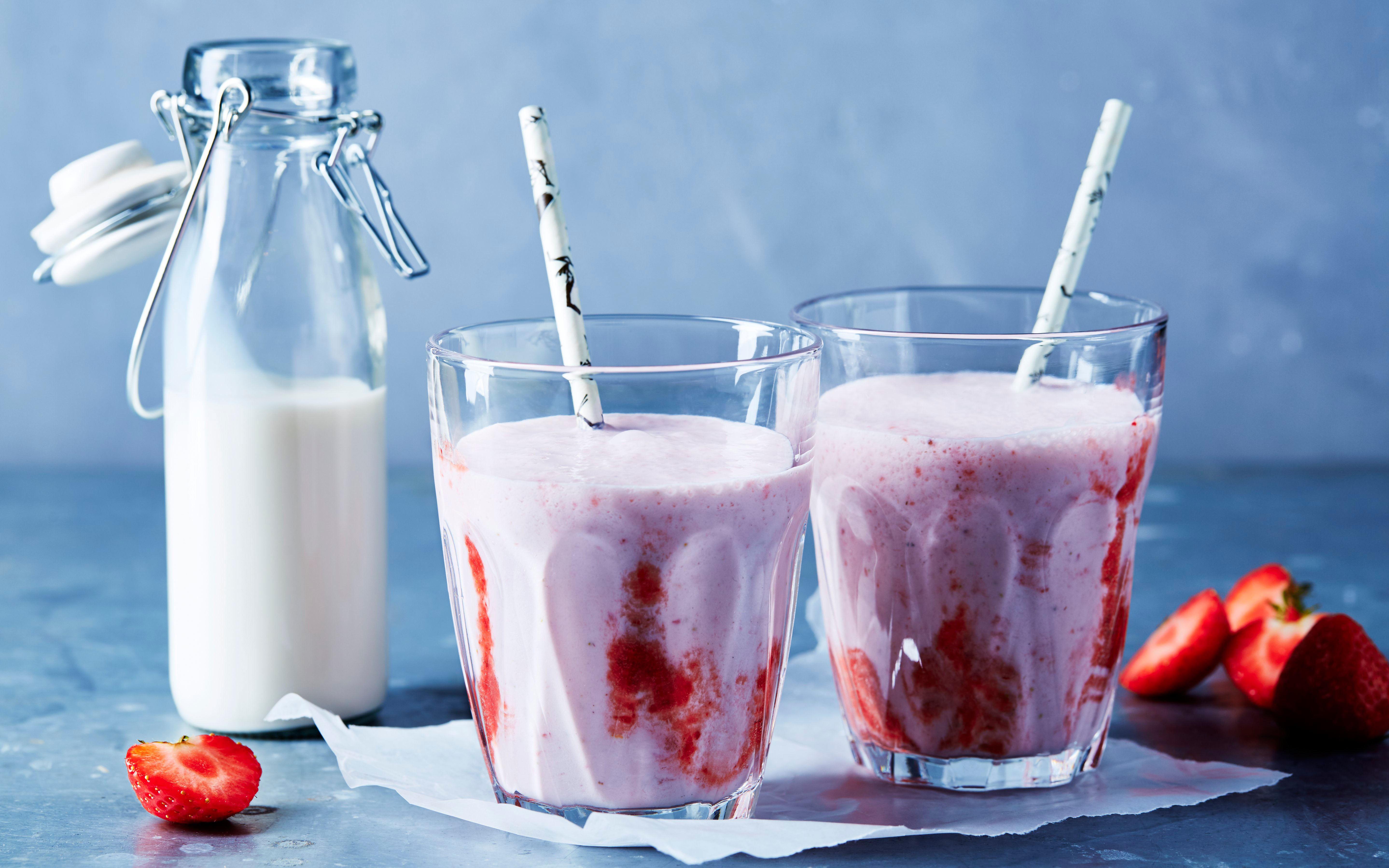 Jordbærmilkshake