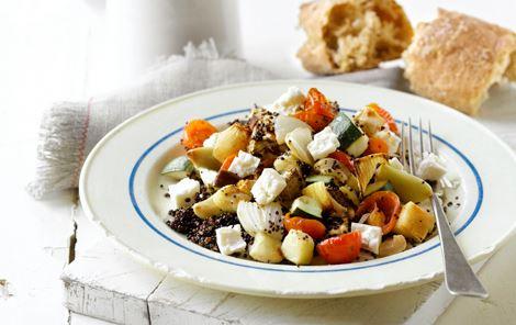 Ovnratatouille på quinoa