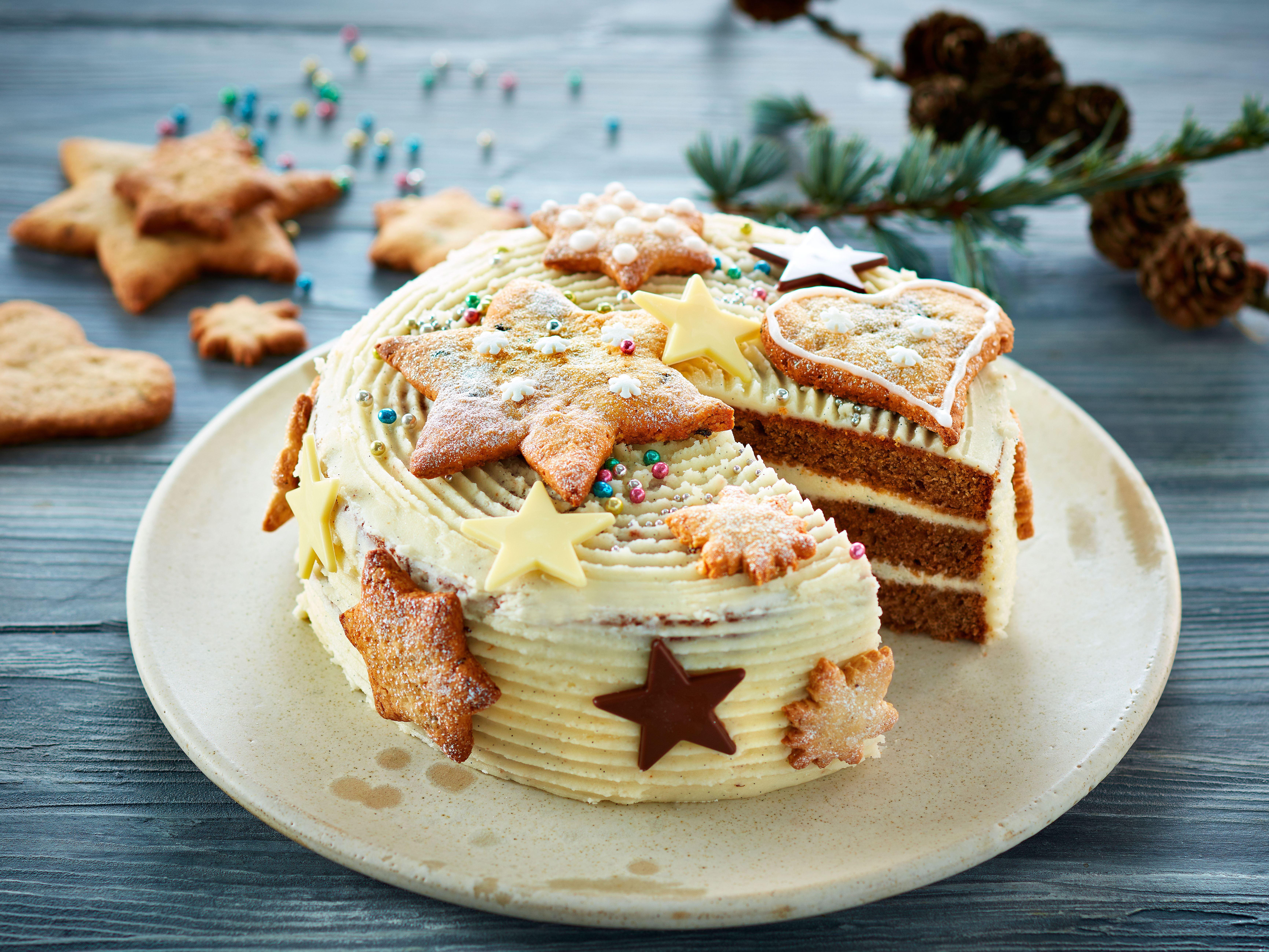 Julelagkage med vaniljefrosting