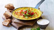 Æggekage med linser og koriander