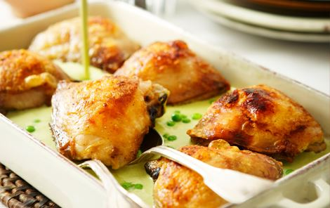 Kylling med ærter og vanilje