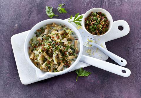 One pot pasta med kål