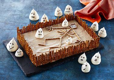 Halloween chokoladekage