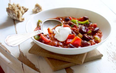 Peberfrugter i chilisauce