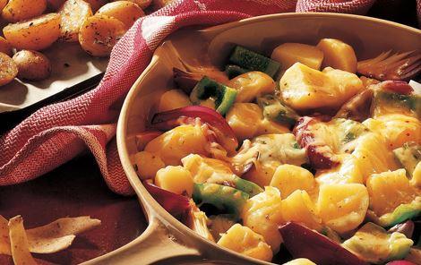 Kartofler med smeltet ost