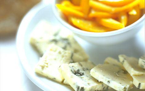 Blåskimmelost med kandiseret orangeskal