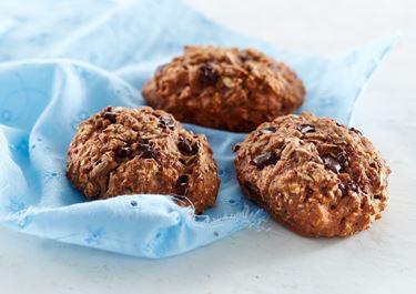 Saftige rugbrødsboller med chokolade