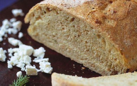 Speltbrød med dild og ost (koldhævet)