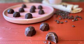 Fyldte chokolader med kaffeganache