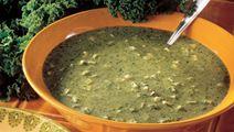 Suppe med grønkål og kartofler