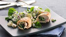 Kalkunruller og thaikrydret kartoffelsalat