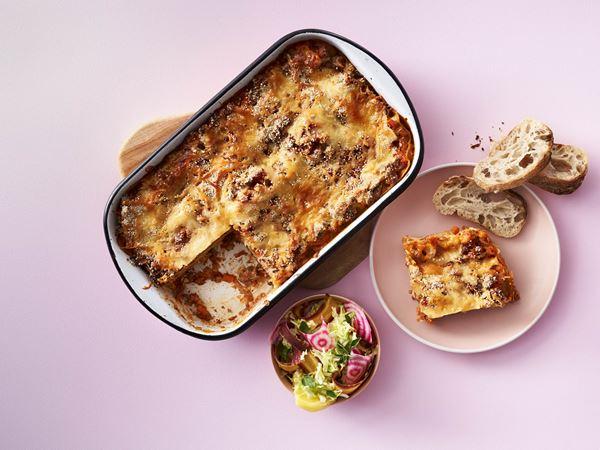 Fedtfattig lasagne