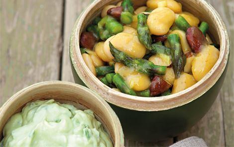 Butterbeans og agurkeguacamole