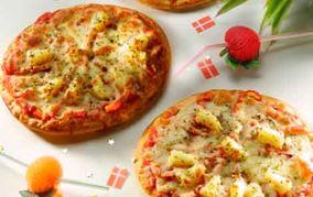 Pizza med frisk ananas