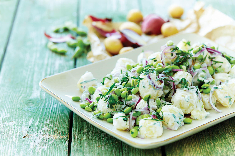 Kartoffelsalat med peberrodsdressing