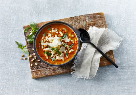 Italiensk inspireret tomatsuppe