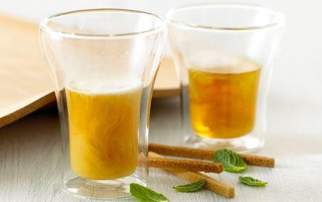 Pebermynte te med fløde