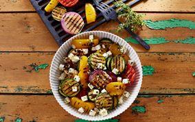 Grillede grøntsager med hvidløg og timian