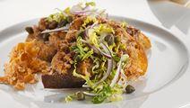 Kyllingebrød med gulerodstzatziki