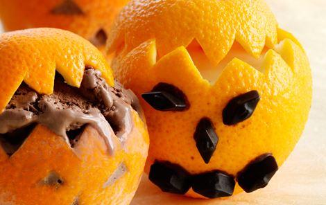 Appelsiner med appelsinsmoothie