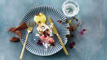 Citrusglaseret havtaske med æble og østersmayo