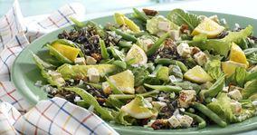 Salat med vilde ris, bønner og citron