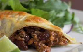 Enchiladas med mole poblano