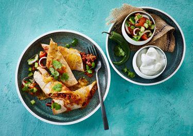 Enchiladas med bønner