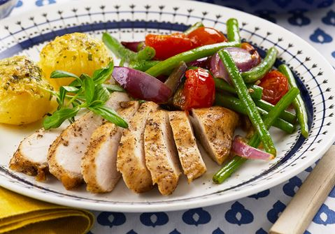 Kylling og estragonkartofler