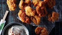 Kyllingenuggets med masalacreme