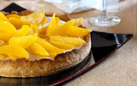 Tærte med orange frugter