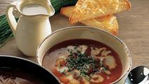 Gulerodssuppe med ostebrød