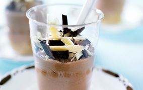 Chokoladecheesecake i glas