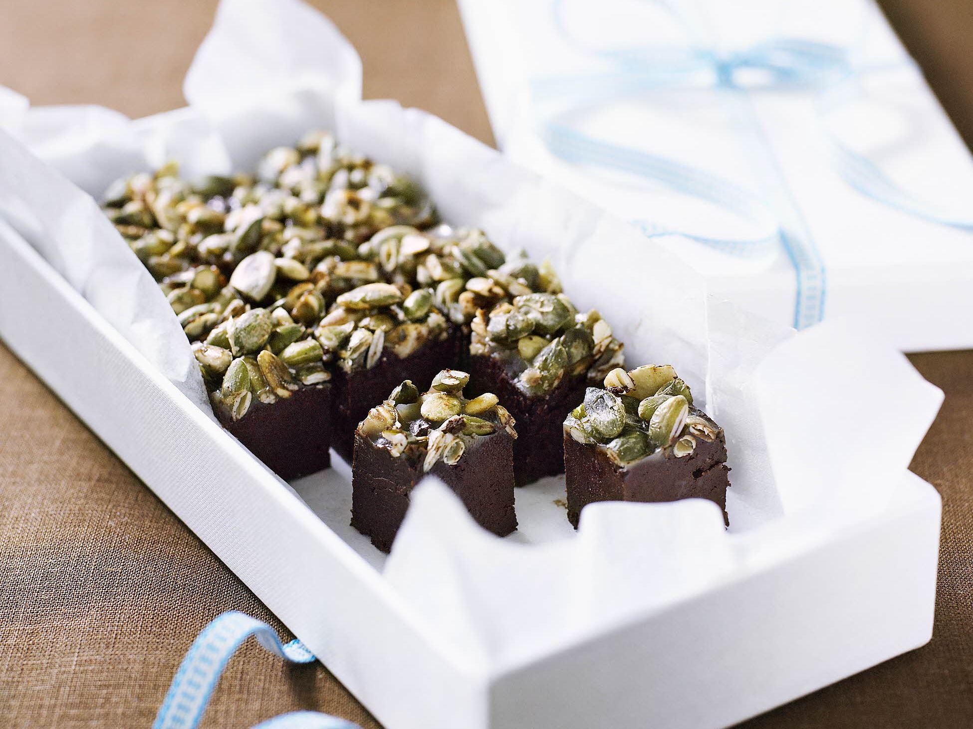 Chokoladetrøffel med ristede frø