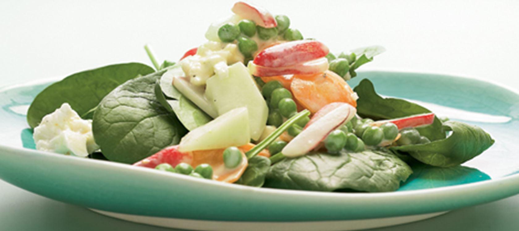 salat med rter melon og spinat opskrifter arla. Black Bedroom Furniture Sets. Home Design Ideas