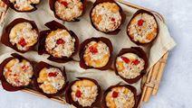 Hindbærmuffins med havregrynscrumble