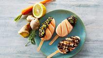 Gulerods-ispinde med skyr og ingefær