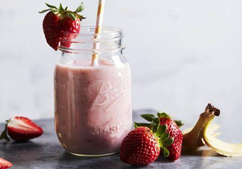 Banan- og jordbærsmoothie